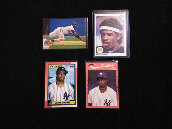 Dion Sanders Baseball Card Collection.