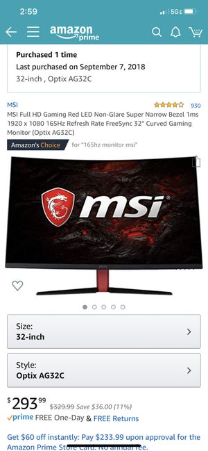 Gaming Monitor for Sale in Washington, DC