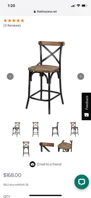 4 bar height stools, brand new in box for Sale in Clovis, CA