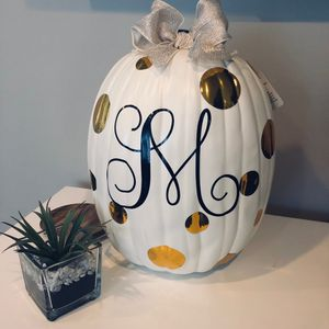 Personalized Halloween decorative ceramic or plastic pumpkin for Sale in Maywood, IL