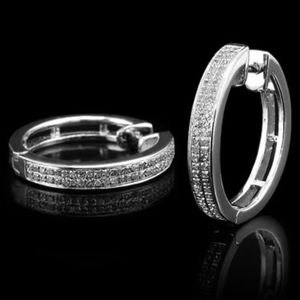 1/5 CTW Diamonds Glamorous Womens 14K White Gold Over Solid Sterling Silver Designer Earrings for Sale in Los Angeles, CA