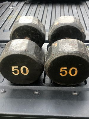 50 POUND DUMBBELLS (USED) for Sale in Deerfield Beach, FL