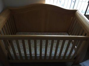 Convertible Baby crib plus matching changing table and mattress for Sale in Bellevue, WA