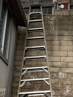 Ladders 14' extension, 10' step and 2 - 12' step ladders cost $1500 . for Sale in Upland, CA