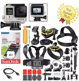 GoPro Hero 4 Silver Action Camera Accessory Bundle Kit for Sale in Edison, NJ
