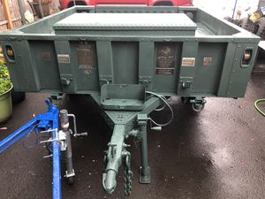Army Trailer M1101...Off road trailer.... It's for going to camper, Electric brake , Includes box inside the trailer, Length 91inch and width 85inch. for Sale in Portland, OR