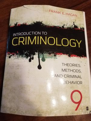 Introduction To Criminology Therories, Methods, and Criminal Behavior for Sale in Buena Park, CA