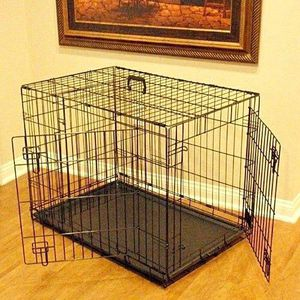 New in box 24x17x20 inches tall foldable 2 doors dog cage crate kennel 25 lbs capacity jaula de perro for Sale in Baldwin Park, CA