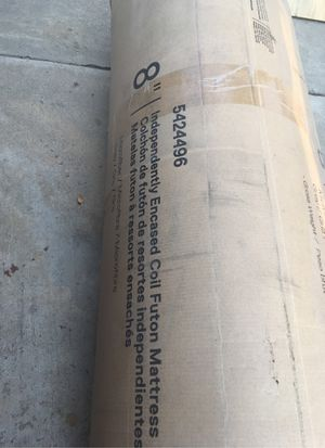 "Futon Mattress 8"" Full Size Grey-New for Sale in Visalia, CA"