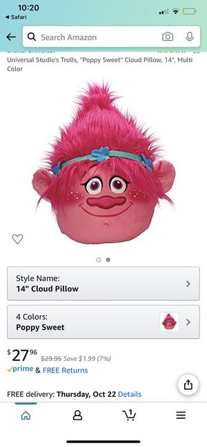 """Trolls """"Poppy"""" pillow for Sale in Queens, NY"""