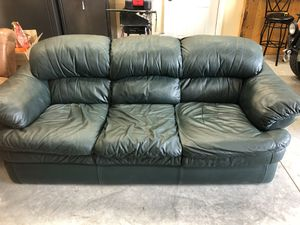 Leather couch for Sale in Culver, OR