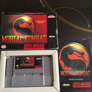 Mortal Kombat (Super Nintendo, SNES) CIB for Sale in Arlington, TX