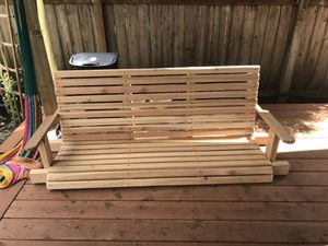 Handcrafted cedar porch swing for Sale in Oregon City, OR