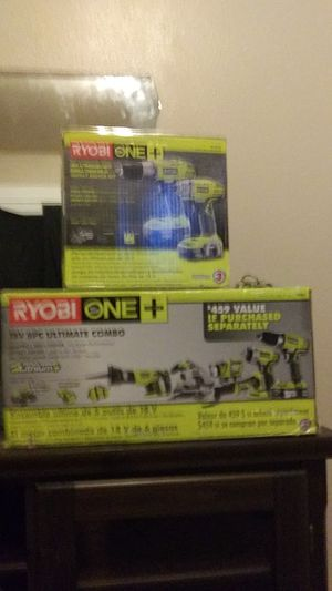 Ryobi power tools combo for Sale in Tacoma, WA