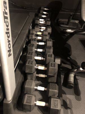 Dumbbells Pair Rubber Hex see below for price (Brand New!) 🏃♀️🏋️♀️🌊🏄♂️ 🏃♀️🏋️♀️🌊🏄♂️ for Sale in Irvine, CA