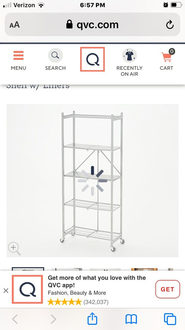Origami Powdered coated collapsible metal shelves