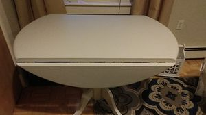Light gray drop leaf table--very nice for Sale in Bangor, ME
