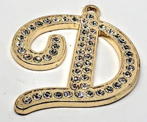 """Gorgeous Fashion Gold Color Pendant Pendant With Letter """"D"""" & CZ stones for Sale in Colorado Springs, CO"""