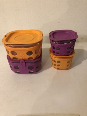 Glass food storage containers set of 4 for Sale in Troutdale, OR