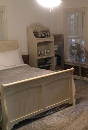 Full size bed with night stand and bookcase for Sale in Dunn, NC