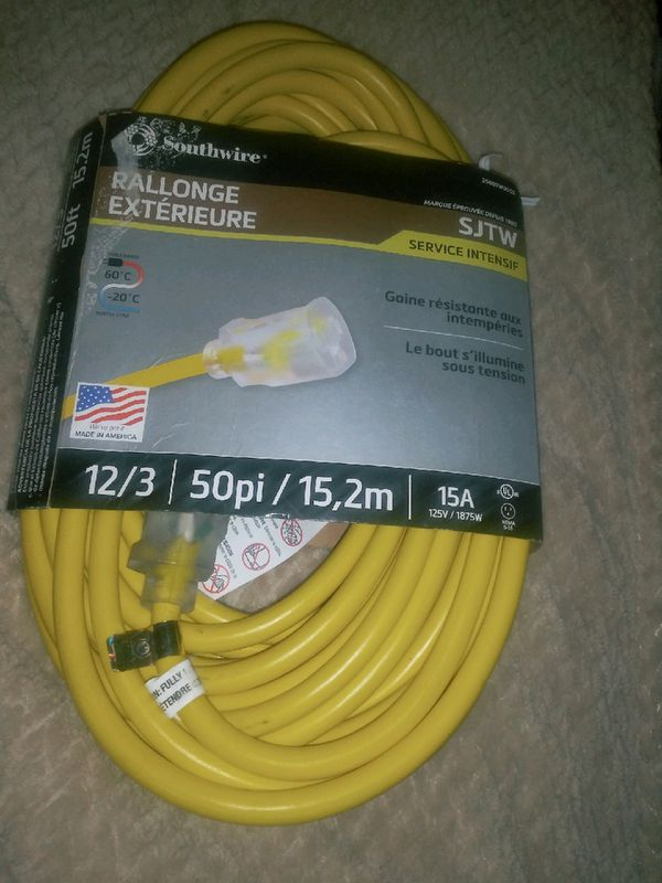 Outside extension cord