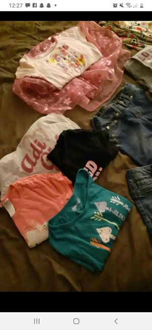 Girls size 10-12 clothes and shoes size 3 for Sale in Coolidge, AZ