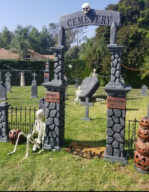 Custom Halloween tombstone props for Sale in Upland, CA