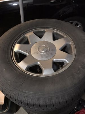 4 - 05 Escalade wheels and tires for Sale in Burke, VA