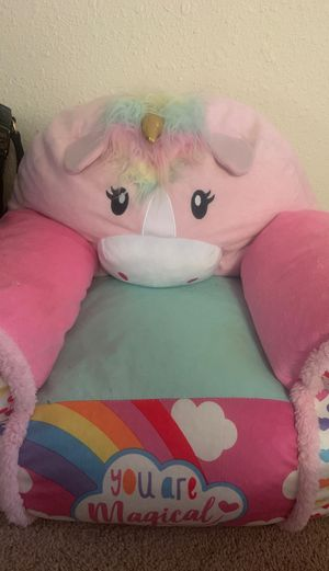 Kids unicorn bean bag chair for Sale in Colorado Springs, CO