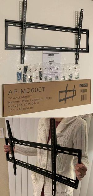 """New LCD LED Plasma Flat Tilt TV Wall Mount stand 32 37"""" 40"""" 42 46"""" 47 50"""" 52 55"""" 60 65"""" inch tv television bracket 100lbs capacity for Sale in Montebello, CA"""