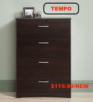 4 Drawer Chest, Cinnamon Cherry for Sale in Downey, CA