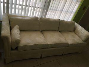 White couch for Sale in Pompano Beach, FL