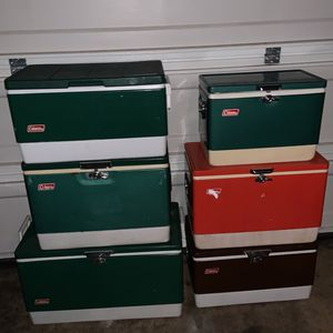 Vintage Coleman Coolers for Sale in Portland, OR