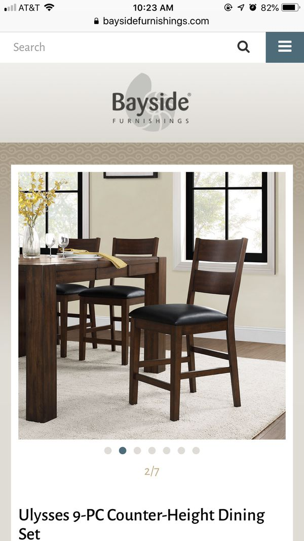 Ulysses 9 Piece Counter Height Dining Set