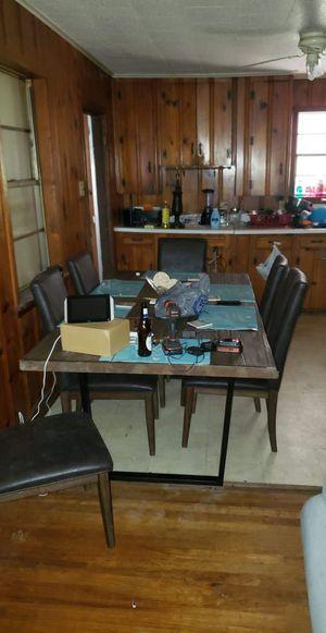 Solid oak table seats 6 for Sale in Monroe, LA