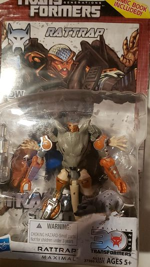 Rattrap action figure and comic book for Sale in Salt Lake City, UT