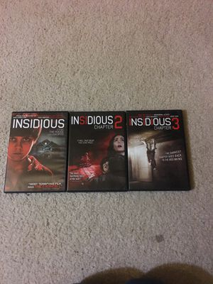 Insidious Chapters 1 to 3 for Sale in Silver Spring, MD