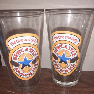 Newcastle Brown Ale Pint Collectable Glasses for Sale in Katy, TX