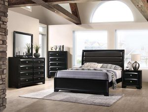 WE ARE OPEN! MONTE CARLO BLACK BEDROOM SET ALL PIECES! NO CREDIT NEEDED FINANCING! for Sale in Tampa, FL