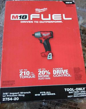 "Milwaukee 3/8"" IMPACT WRENCH W/Frinction Ring M18 (2754 20)BRAND NEW!!!Nuevo for Sale in Los Angeles, CA"