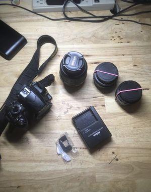 Nikon d3100 w lenses for Sale in Mount Juliet, TN