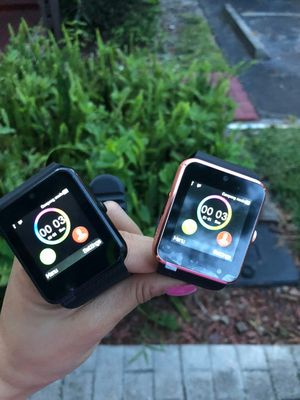 Brand new smartwatch with camera unlocked touchscreen works with any phone via bluetooth or with any sim card for Sale in Davie, FL