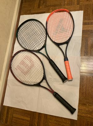 Tennis rackets (set of 3) and 2 covers for Sale in Skokie, IL