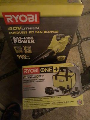 Ryobi power blower and battery charger kit for Sale in San Bernardino, CA