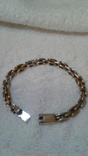Sterling Silver Two Tone Bracelet Taxco Mexico for Sale in Portland, OR
