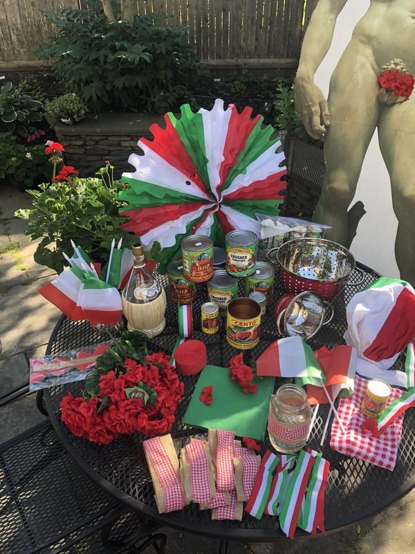 Instant Italy/ Italian Theme Party! Just add food❤️