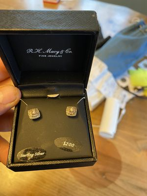 Sterling Silver diamond earrings for Sale in Canby, OR