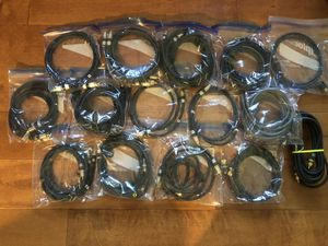 LOT of Monster Cables Interlink Video Audio RCA, Coaxial, S-Video, Composite, Digital for Sale in Irvine, CA