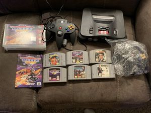 Nintendo 64 with 2 Controllers and 6 Games for Sale in Morrisville, NC
