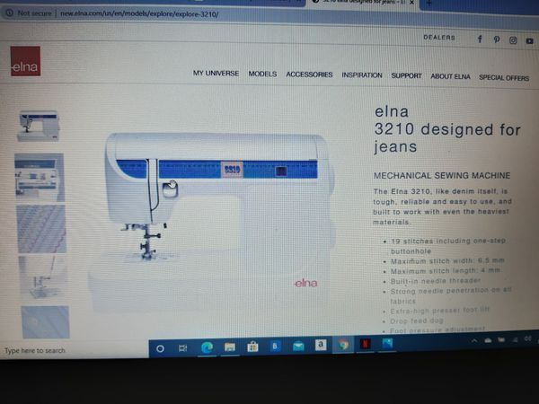 MUST SELL! Elna Sewing Machine Elna 3210 Jeans